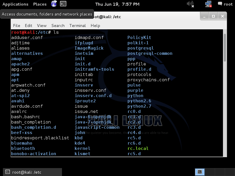 kali linux commands linux List Directory Contents