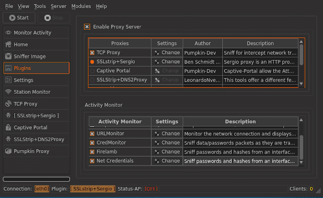 WiFi Pumpkin Framework