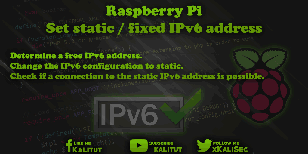 Raspberry Pi static IPv6 address