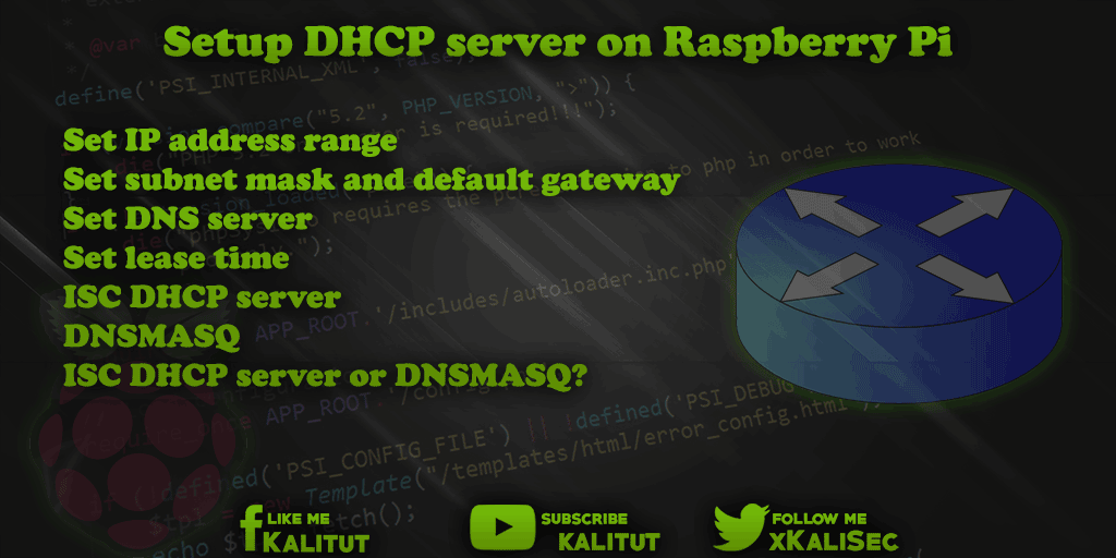 Setup DHCP server on Raspberry Pi