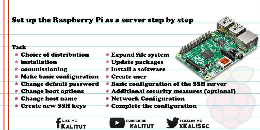 use raspberry pi as server step by step