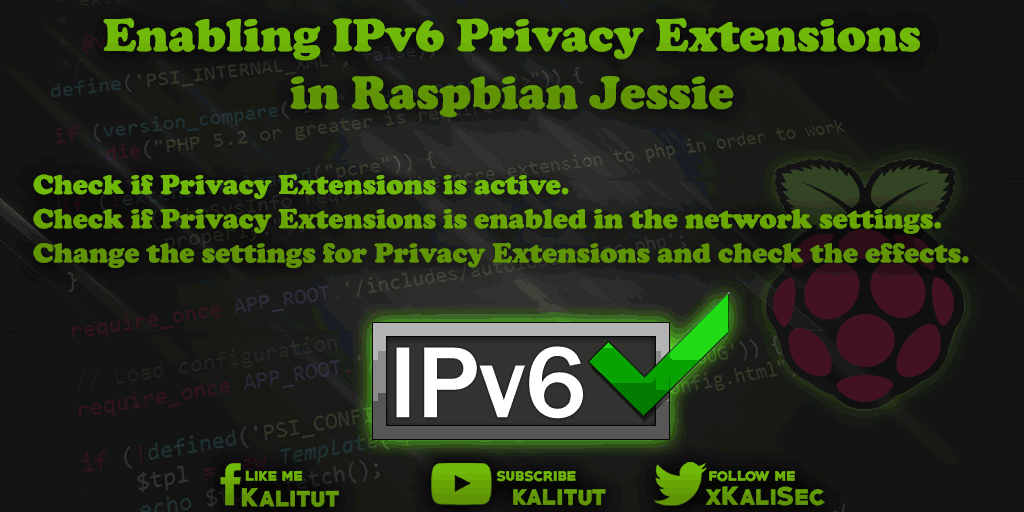 Raspbian IPv6 Privacy Extensions