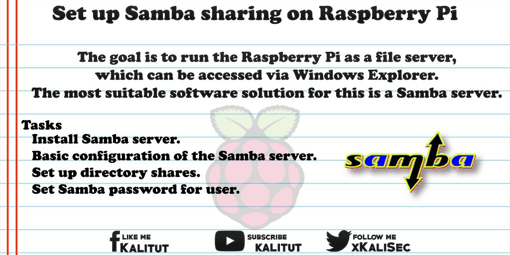 install samba sharing on Raspberry Pi