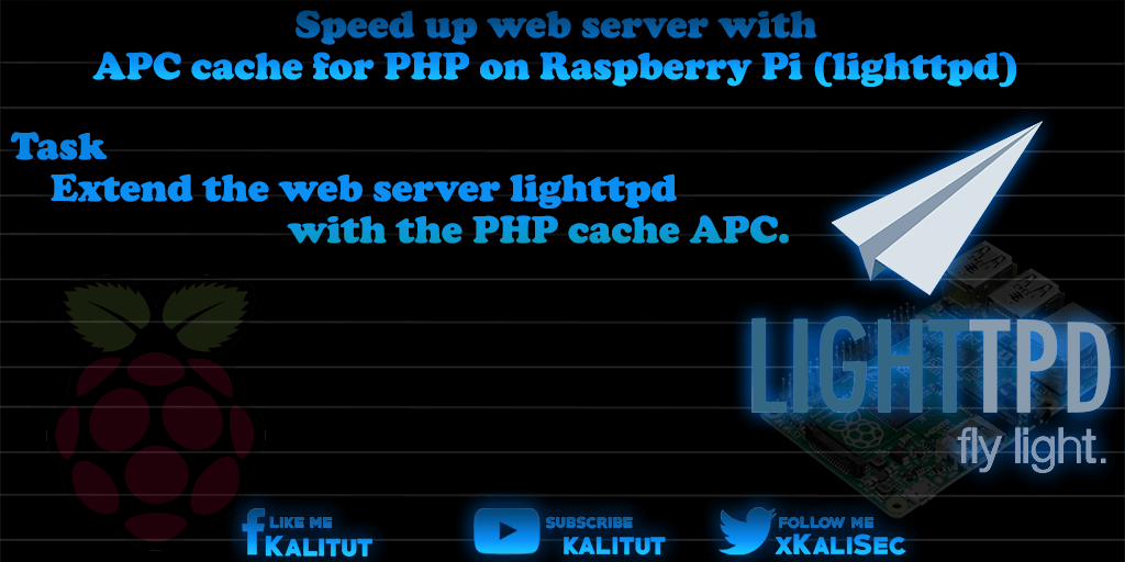 Speed ​​up web server with PHP5 on Raspberry Pi (lighttpd)