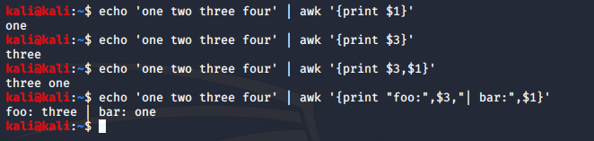 awk command in linux with examples
