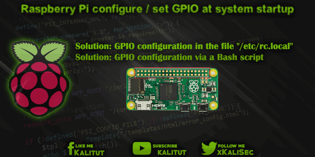 Configure Raspberry Pi GPIO