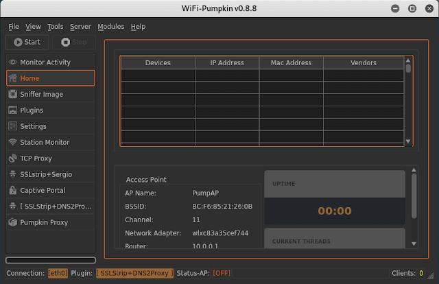configure WiFi-Pumpkin
