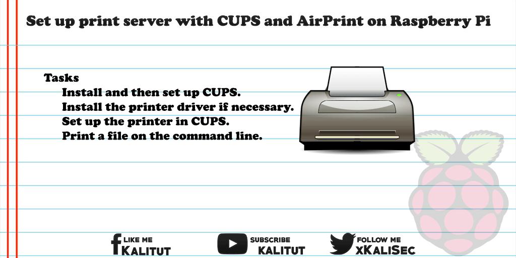 using a raspberry pi as a print server