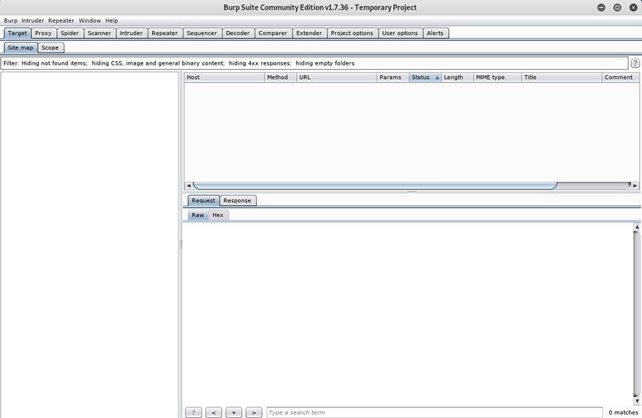 Burp Suite interface