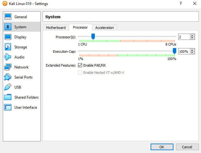 installing kali linux on virtualbox