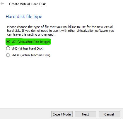 VirtualBox Disk Image