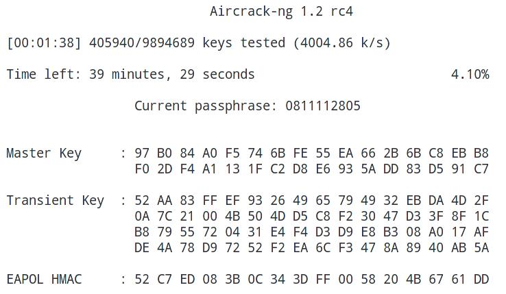 Hacking WPA/WPA2 passwords with Aircrack-ng & Hashcat
