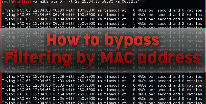 What is wifi mac filtering?