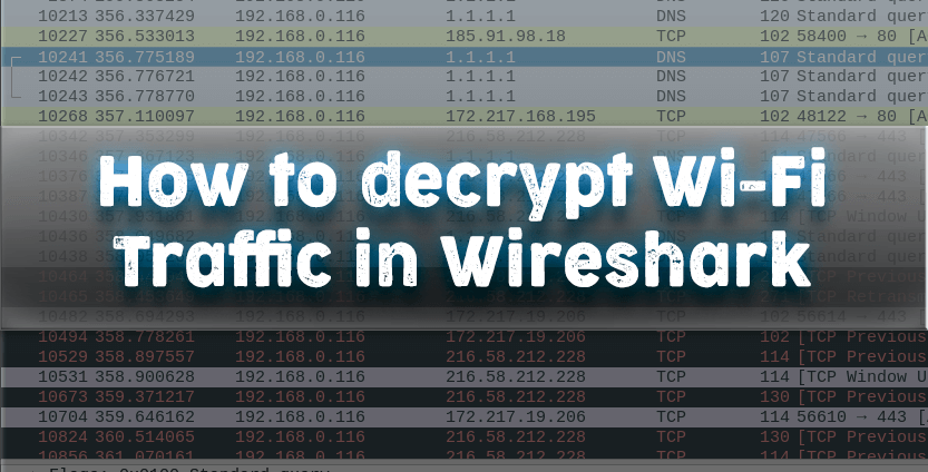 How to decrypt wifi traffic