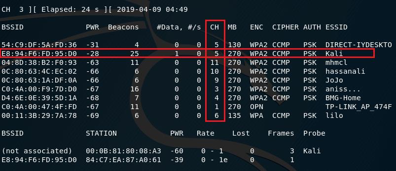 Capture WiFi traffic using Airodump-ng