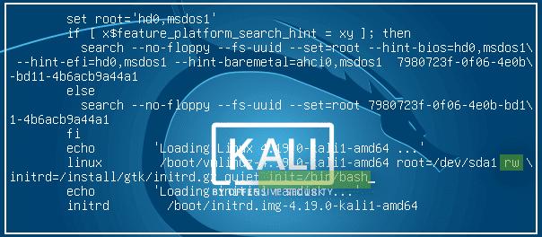 kali linux default password