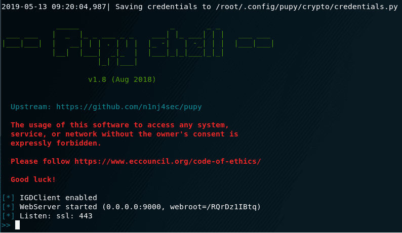 Installing Pupy rat on Kali Linux