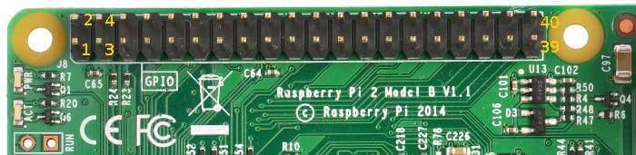 raspberry pi A+ gpio pinout