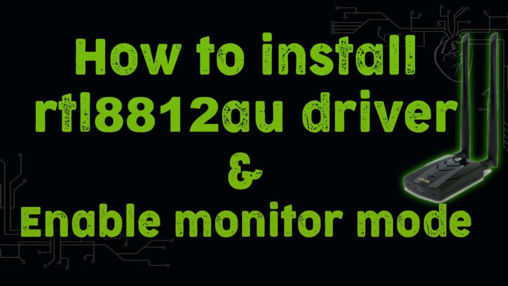 install rtl8812au driver