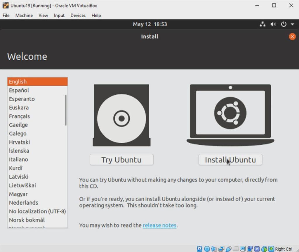 install ubuntu 19