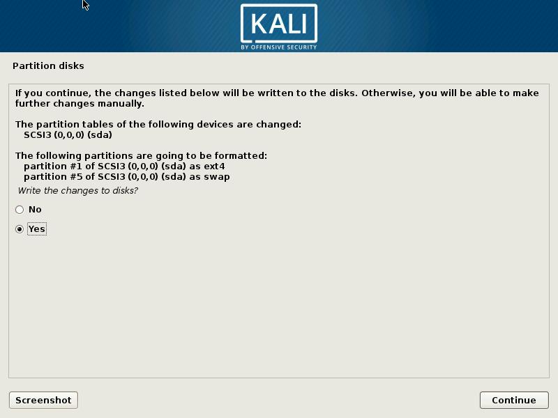 kali linux format disk